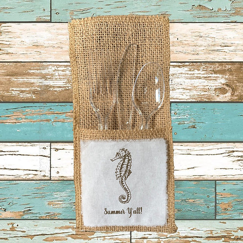 SUMMER Y'ALL CUTLERY POUCHES  Pack of 8