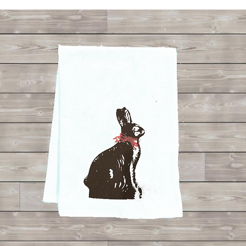 CHOCOLATE BUNNY TEA TOWEL