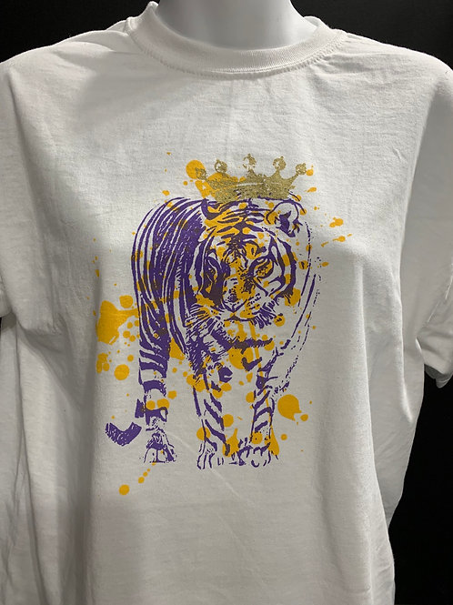 TIGER WITH CROWN T SHIRT