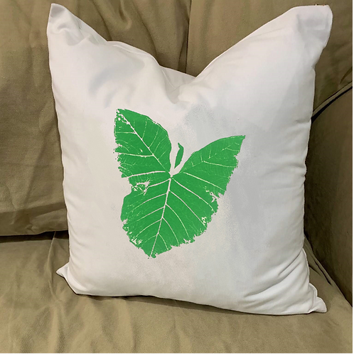 ELEPHANT EAR LEAF  PILLOW WITH FEATHER INSERT