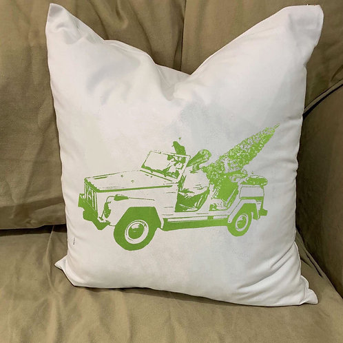 ALLIGATOR AND PELICAN  GET A CHRISTMAS TREE PILLOW WITH FEATHER INSERT