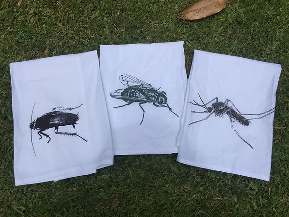 COCKROACH, FLY, MOSQUITO TEA TOWELS