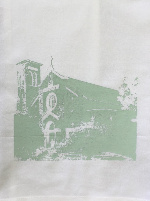 OUR LADY OF THE LAKE TEA TOWEL,TOTE, APRON, T-SHIRT