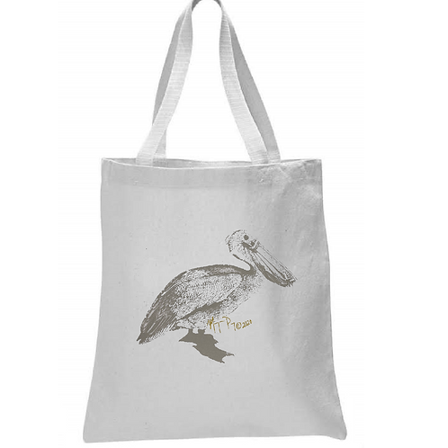 PELICAN WITH MASK TOTE BAG