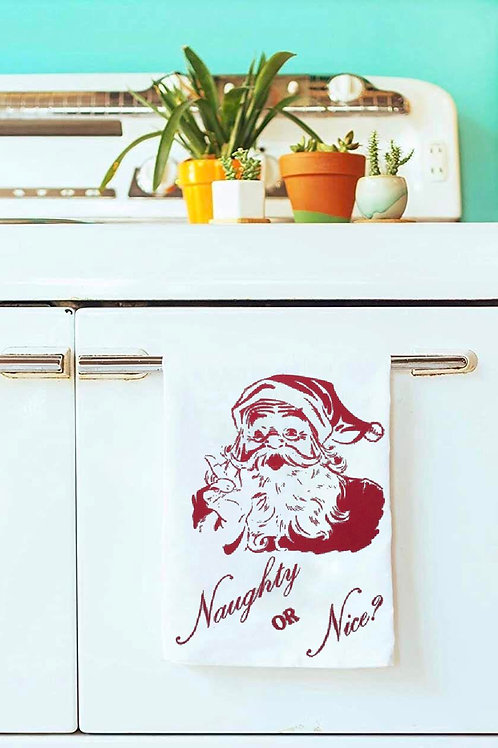 NAUGHTY OR NICE? TEA TOWEL