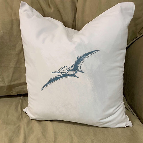 PTERODACTYL PTEROSAURS PILLOW WITH FEATHER INSERT