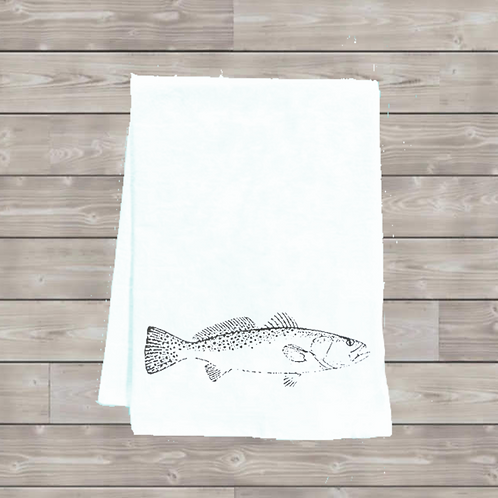 SPECKLED TROUT TEA TOWEL