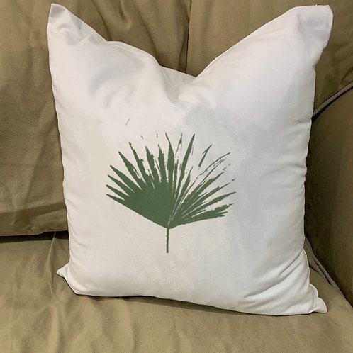 PALMETTO FROND  PILLOW WITH FEATHER INSERT