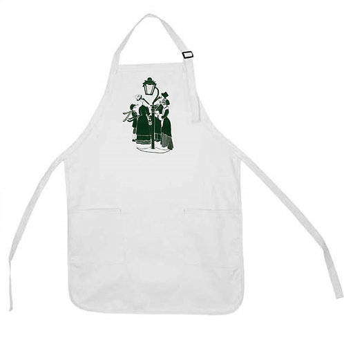ALLIGATOR AND PELICAN  DO CHRISTMAS CAROLING APRON