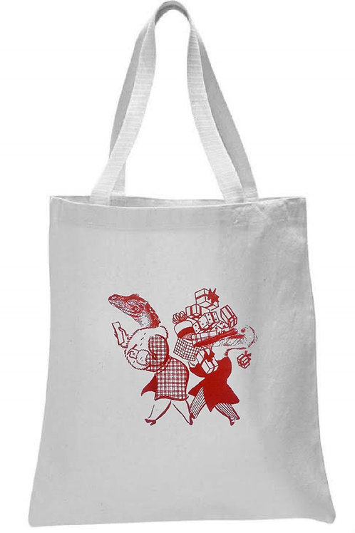 ALLIGATOR AND PELICAN GO SHOPPING TOTE BAG