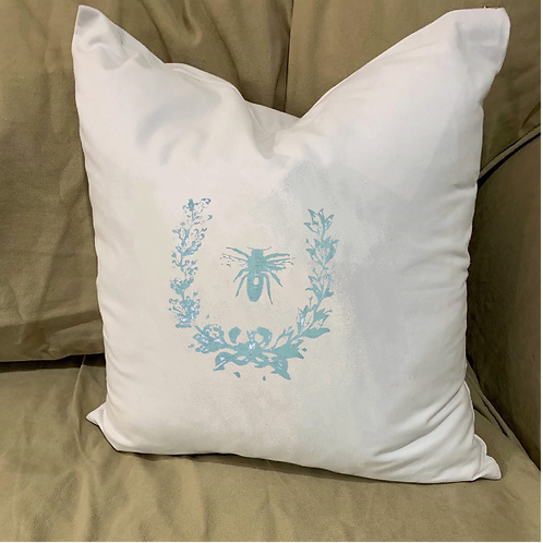 NAPOLEONIC BEE PILLOW WITH FEATHER INSERT