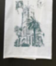 HOLY NAME OF JESUS CHURCH TEA TOWEL SLATE BLUE