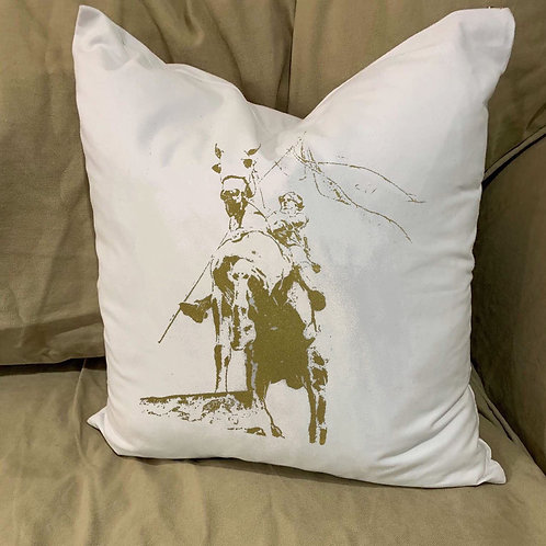 JOAN OF ARC PILLOW WITH FEATHER INSERT