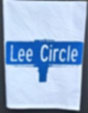 LEE CIRCLE STREET SIGN TEA TOWEL BLUE
