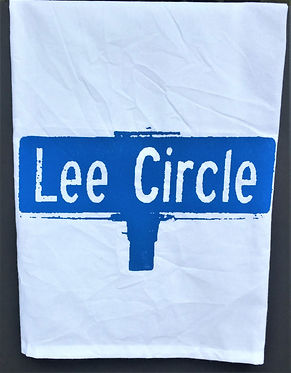 LEE CIRCLE STREET SIGN TEA TOWEL BLUE