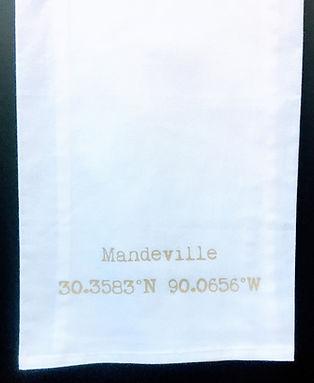 MANDEVILLECOORDINATES TEA TOWEL BEIGE