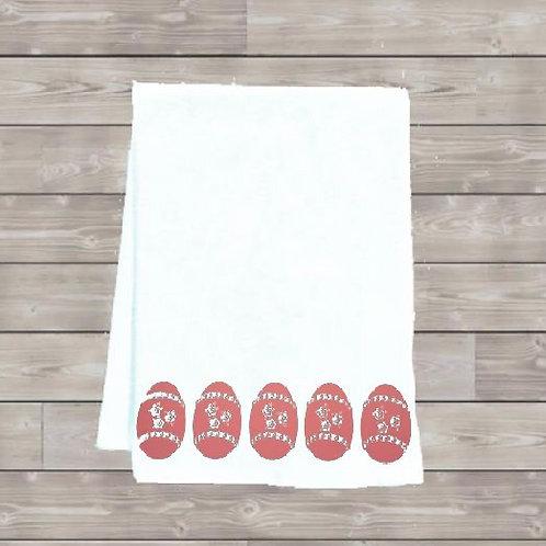 Eggs in a Row Tea Towel