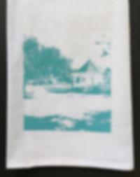 LAKEFRONT GAZEBO TEA TOWEL AQUA