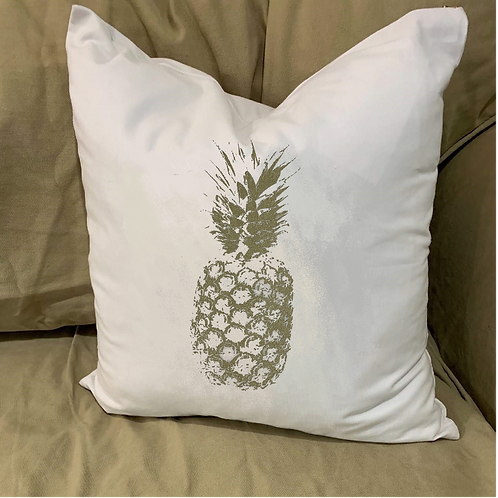 PINEAPPLE PILLOW WITH FEATHER INSERT