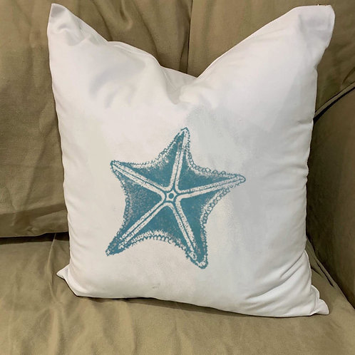 STAR FISH / SEA STAR PILLOW WITH FEATHER INSERT