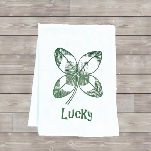 LUCKY CLOVER TEA TOWEL