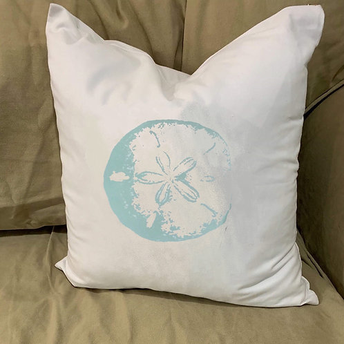 SAND DOLLAR PILLOW WITH FEATHER INSERT