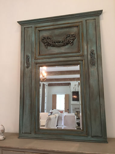 Tremeau Mirror After Faux Finish by Monique Perry