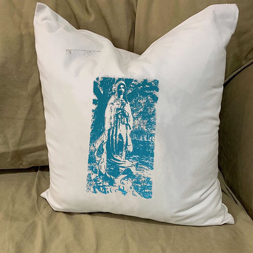 OUR LADY OF GUADELOUPE PILLOW WITH FEATHER INSERT
