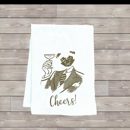 CHEERS PUG TEA TOWEL