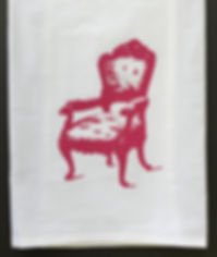 ARMCHAIR TEA TOWEL FUSCHIA