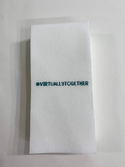 #VIRTUALLYTOGETHER Paper Hand Towels (Guest Towels)