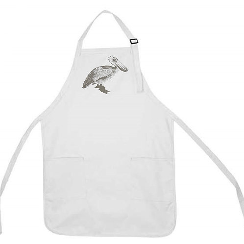 PELICAN WITH MASK APRON