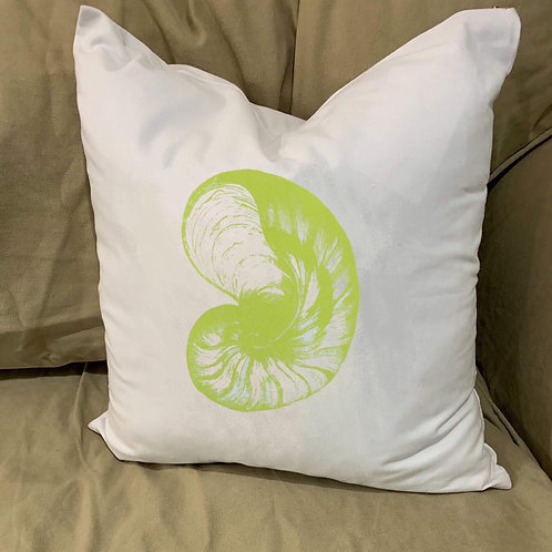 NAUTILUS PILLOW WITH FEATHER INSERT