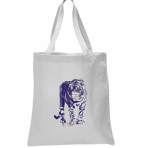 TIGER WITH MASK TOTE BAG