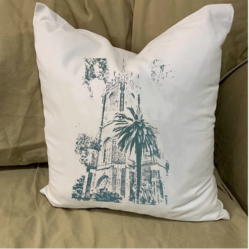 HOLY NAME OF JESUS CHURCH PILLOW WITH FEATHER INSERT