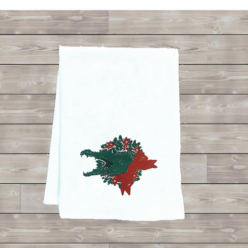 ALLIGATOR WREATH TEA TOWEL