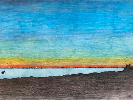 "My latest drawing ""Morning Walk"""