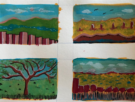 Four Sketches in Gouche