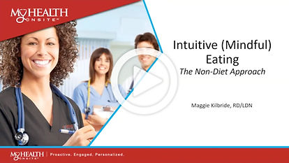Intuitive (Mindful) Eating - The Non-Diet Approach