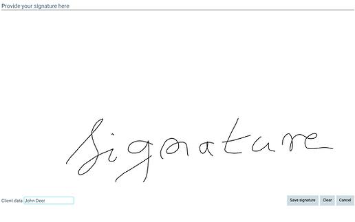 elektroniczny podpis klienta