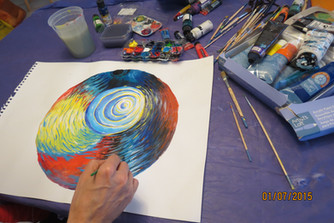"Terrapia school seminar "" Open your creativity with Mandala painting"" Tue, March 1"