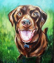 Loved painting this handsome boy ❤🐕 #co