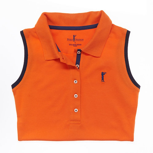 Polo Sans Manche Orange