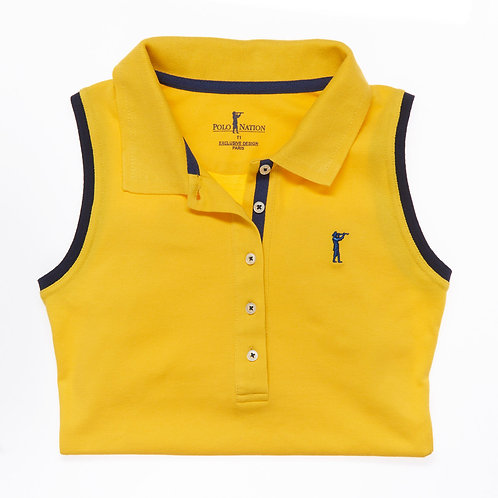 Polo Sans Manche jaune