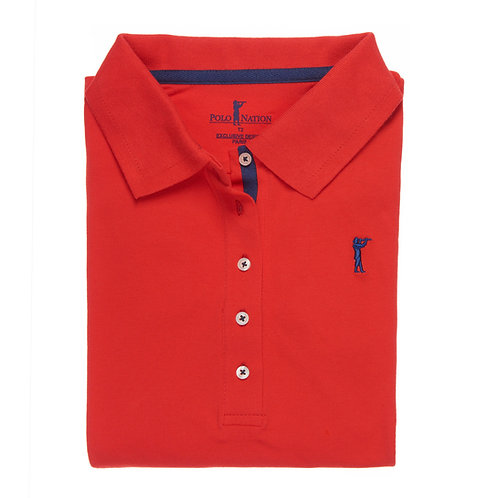 Polo 3/4 Rouge