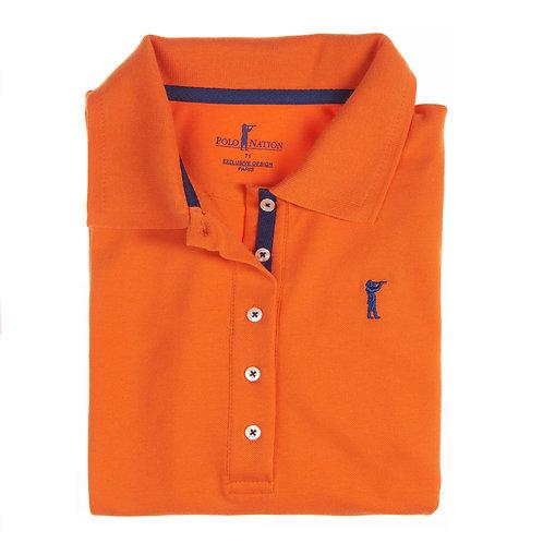 Polo 3/4  Orange