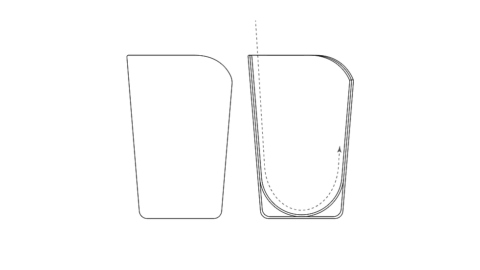 Sectional Cup Illustration With Arrow Lo