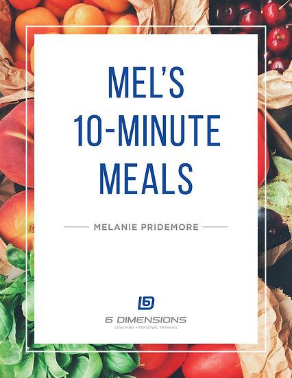 Mel's 10 Minute Meals E-Book
