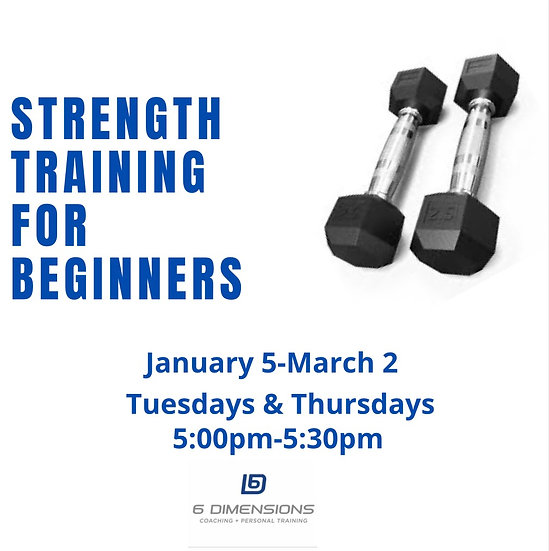 Strength Training For Beginners-Virtual Group Fitness Program