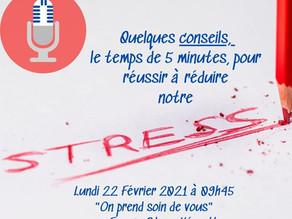 5 minutes pour réguler son niveau de stress: un rendez-vous radiophonique à découvrir!